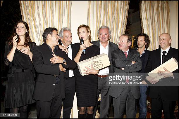 Laureates Carole Bouquet and Thierry Marx with Anna Mouglalis Jose Garcia Pierre Arditi Hubert of Bouard and Jean Bernard Grenie Frederic Diefenthal...