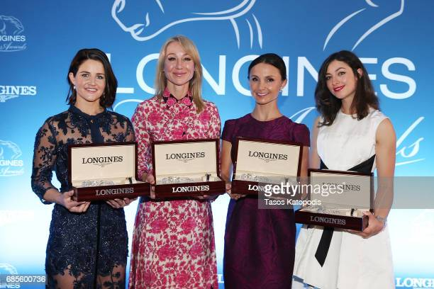 Laureates Michelle Payne Belinda Stronach Georgina Bloomberg and Reed Kessler attend the Longines Ladies Awards ceremony hosted by Longines at the...
