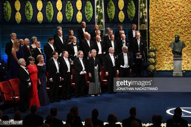 Laureates of the 2018 Nobel Prize in all categories Gerard Mourou and Donna Strickland Frances H Arnold George P Smith Gregory P Winter James P...