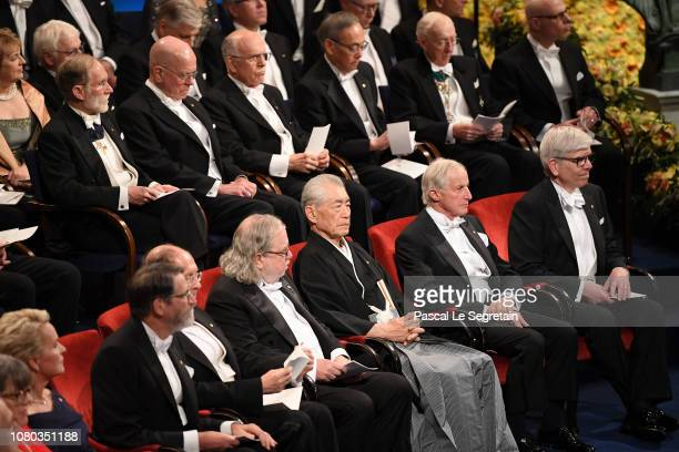 Laureates of the Nobel Prize attend the Nobel Prize Awards Ceremony at Concert Hall on December 10 2018 in Stockholm Sweden