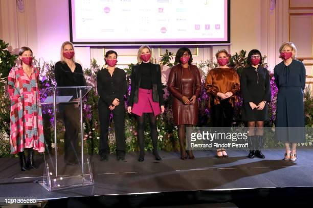 Laureates Tatiana Jama, Flavie Melendez Rigole, Mathilde de l'Ecotais, Agnes Pannier-Runacher, Minister Delegate to the Prime Minister, in charge of...