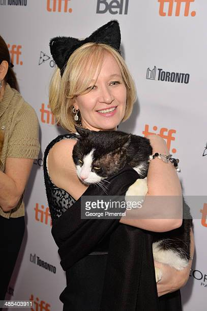 Laureen Harper cat fostermom and volunteer for Humane Societies attends the Just For Cats Internet Cat Video Festival at TIFF Bell Lightbox on April...