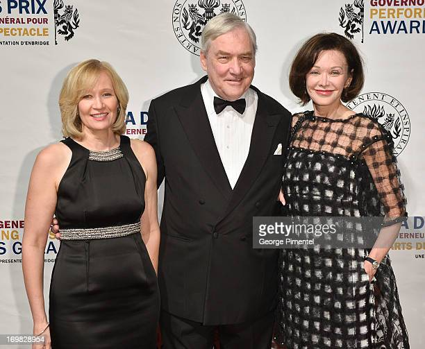 Laureen Harper Lord Conrad Black and Barbara Amiel attends the 2013 Governor General's Performing Arts Awards on June 1 2013 in Ottawa Canada