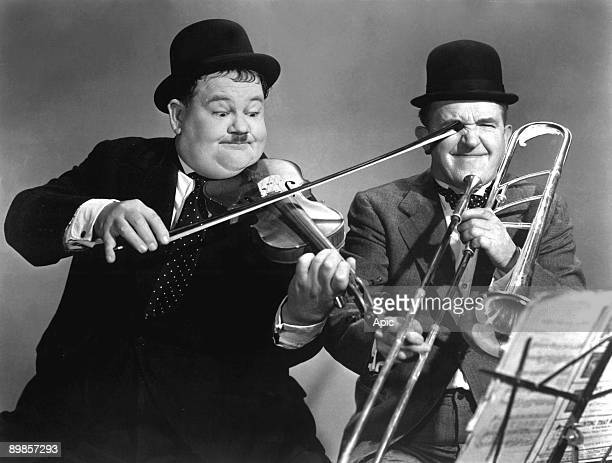 Laurel and Hardy in SAPS AT SEA cruise with Stan Laurel and Oliver Hardy in 1940