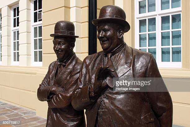 Laurel and Hardy statue Coronation Hall Ulverston Cumbria 2009 Known locally as 'The Coro' Ulverston's Coronation Hall was built in the 1910s in...