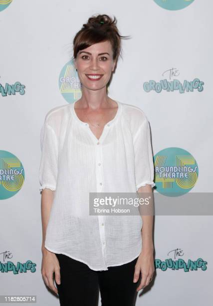 Laurel Coppock attends The Groundlings Theatre 45th anniversary sketch comedy show at The Groundlings Theatre on October 22 2019 in Los Angeles...