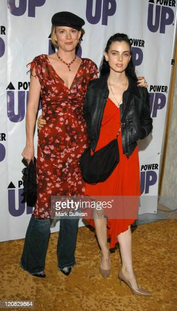 Laurel Holloman and Mia Kirshner of 'LWord' during 3rd Annual POWER UP Premiere Gala at The Regent Beverly Wilshire Hotel in Beverly Hills California...