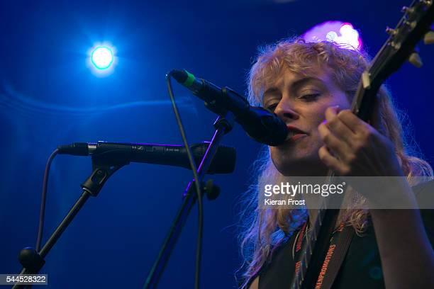 Laurel Sprengelmeyer of Little Scream performs at CastlePalooza at Charville Castle on July 2, 2016 in Tullamore, Ireland.