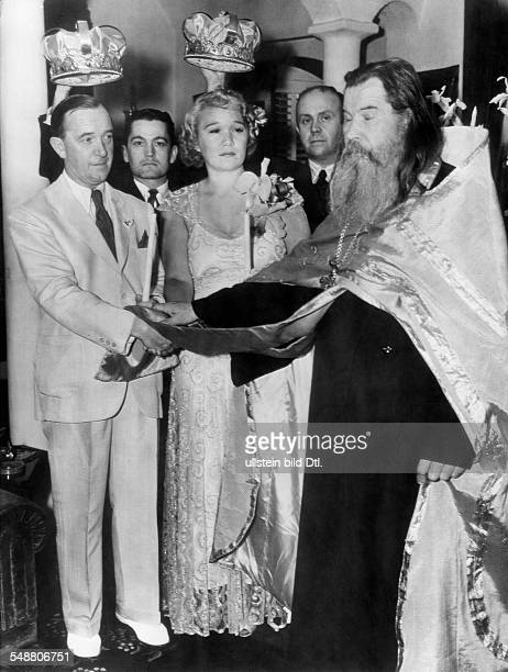 Laurel Stan Comedian Actor Screenwriter Director Great Britain *16061890 the Russian Orthodox wedding with Vera Shukalowa 1938 Vintage property of...