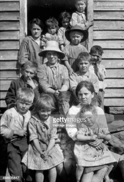 Laurel Wheeler and family Buena Vista Rockbridge County Virginia USA 19161918 Photograph taken during Cecil Sharp's folk music collecting expedition...