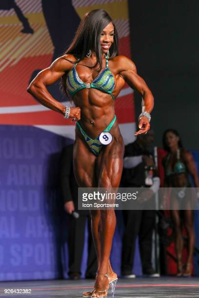 Laurelle Martineau competes in Figure International as part of the Arnold Sports Festival on March 2 at the Greater Columbus Convention Center in...