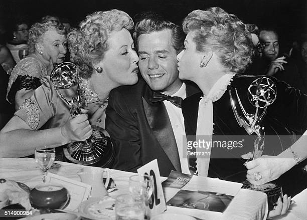 Laurels sweet TV program I Love Lucy gained an Emmy as the best situation comedy. Showing their joys are Vivian Vance, , who got an Emmy for Best...