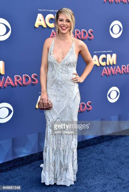 Lauren Akins attends the 53rd Academy of Country Music Awards at MGM Grand Garden Arena on April 15 2018 in Las Vegas Nevada