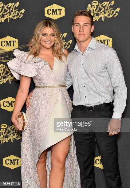 Lauren Alaina and Alex Hopkins attend the 2018 CMT Music Awards at Bridgestone Arena on June 6 2018 in Nashville Tennessee