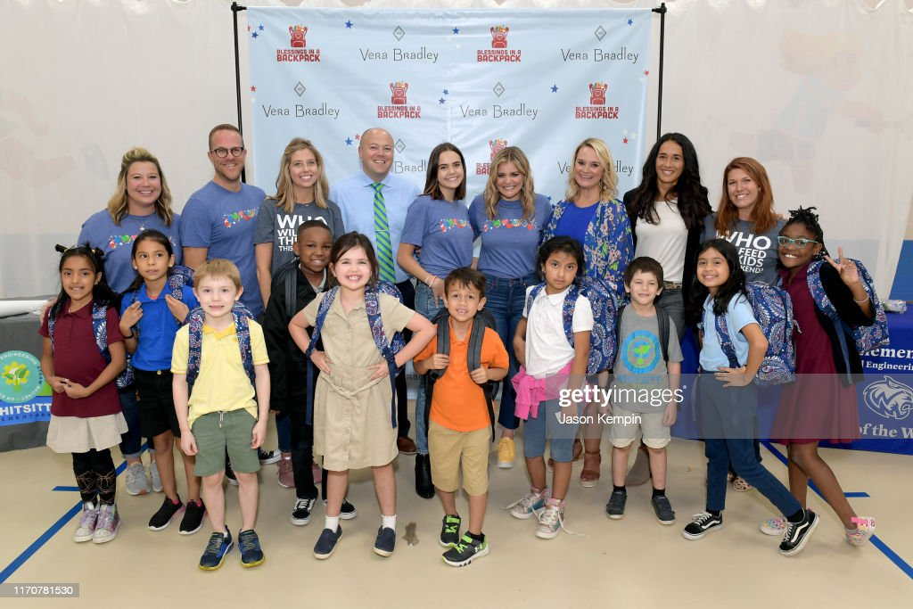 Vera Bradley x Blessings In A Backpack Event With Lauren Alaina & Bailee Madison : News Photo