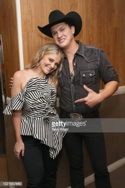 Lauren Alaina and Jon Pardi take photos during the 12th Annual ACM Honors at Ryman Auditorium on August 22 2018 in Nashville Tennessee