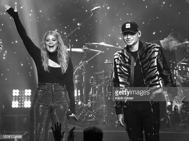 Lauren Alaina and Kane Brown performs onstage during Dick Clark's New Year's Rockin' Eve With Ryan Seacrest 2019 on December 31 2018 in Los Angeles...