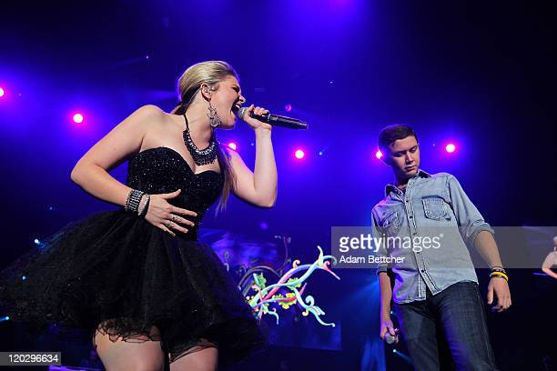 Lauren Alaina and Scotty McCreery of American Idols Live perform at Target Center in Minneapolis Minnesota on August 3 2011