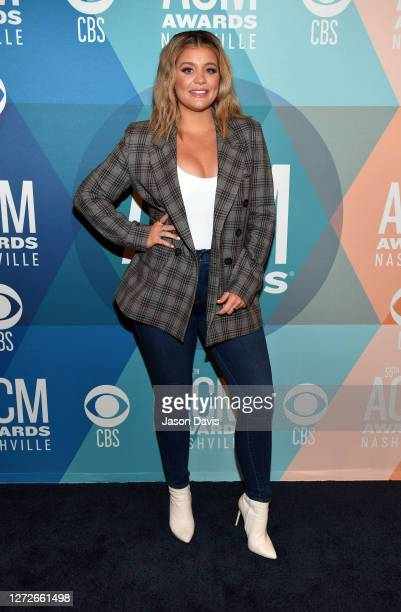 Lauren Alaina attends virtual radio row during the 55th Academy of Country Music Awards at Gaylord Opryland Resort & Convention Center on September...