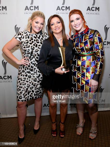 Lauren Alaina Martina McBride and Caylee Hammack backstage during the 13th Annual ACM Honors at Ryman Auditorium on August 21 2019 in Nashville...
