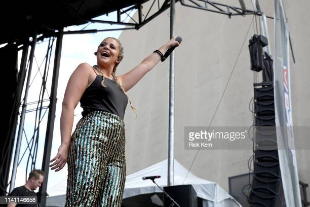 Lauren Alaina performs live during the Daytime Village at the 2019 iHeartCountry Festival Presented by Capital One at the Frank Erwin Center on May 4...