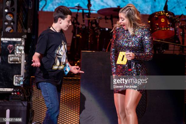 Lauren Alaina performs on stage prior to Jason Aldean at Madison Square Garden on August 11 2018 in New York New York
