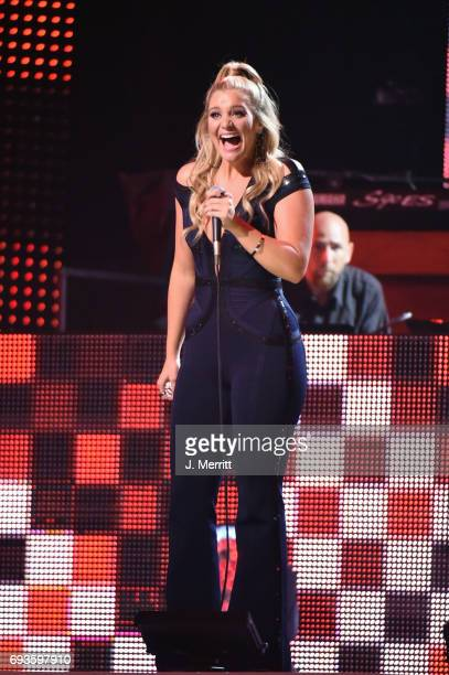 Lauren Alaina performs onstage at the 2017 CMT Music Awards at the Music City Center on June 7 2017 in Nashville Tennessee