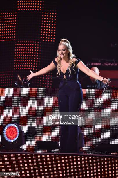 Lauren Alaina performs onstage during the 2017 CMT Music Awards at the Music City Center on June 6 2017 in Nashville Tennessee