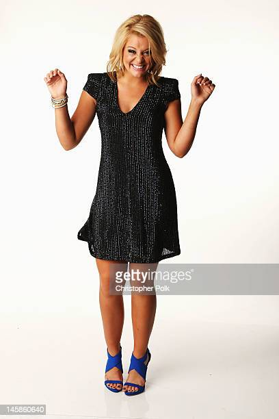 Lauren Alaina poses in the Wonderwallcom Portrait Studio during 2012 CMT Music awards at the Bridgestone Arena on June 6 2012 in Nashville Tennessee