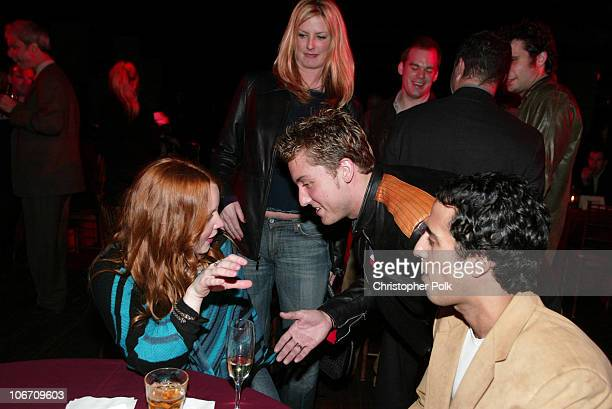 Lauren Ambrose and Lance Bass during LA Premiere of HBO's series 'Six Feet Under' After Party at The Highlands in Hollywood CA United States