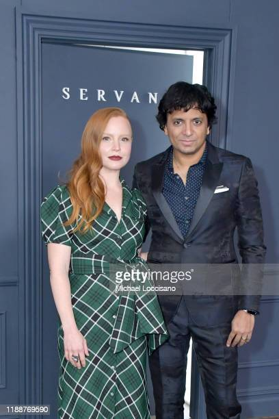 Lauren Ambrose and M Night Shyamalan attend the world premiere of Apple TV's Servant at BAM Howard Gilman Opera House on November 19 2019 in the...