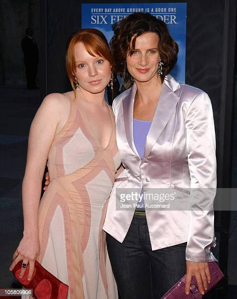 Lauren Ambrose and Rachel Griffiths during HBO's 'Six Feet Under' Fourth Season Los Angeles Premiere at Chinese Theater in Hollywood California...
