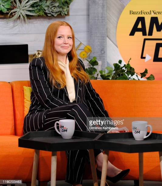 "Lauren Ambrose attends BuzzFeed's ""AM To DM""on November 26, 2019 in New York City."
