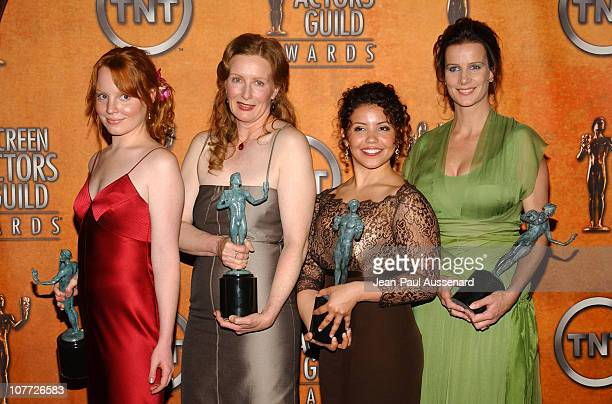 Lauren Ambrose Frances Conroy Justina Machado Rachel Griffiths of 'Six Feet Under' winner of Outstanding Performance by an Ensemble in a Drama Series