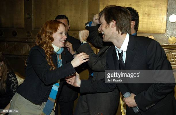Lauren Ambrose Peter Krause during HBO's Six Feet Under Third Season World Premiere After Party at Capitale in New York City New York United States