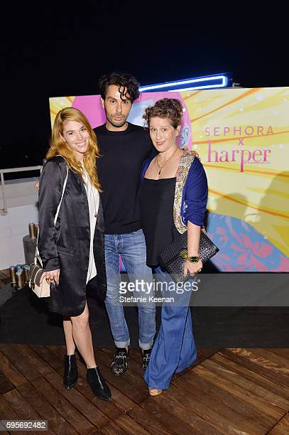 Lauren Andersen, Joey Maalouf and Molly Stern attend harper By HarperÕs BAZAAR September Issue Party. Hosted by Zoey Deutch and Laura Brown,...