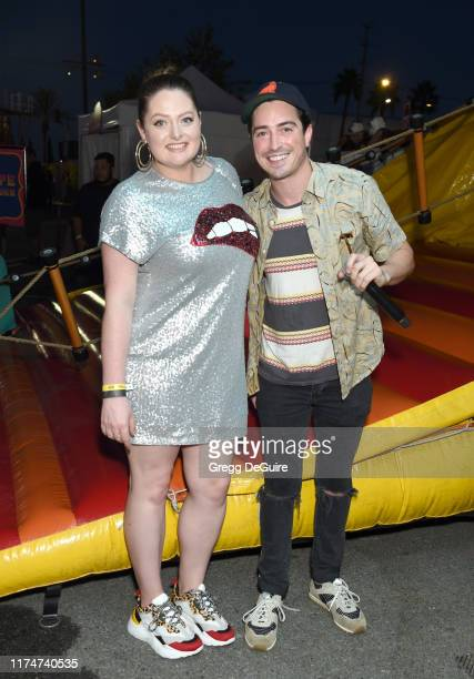 Lauren Ash and Ben Feldman attend Hilarity For Charity's County Fair hosted by Seth Rogen Lauren Miller Rogen at The Row on September 14 2019 in Los...