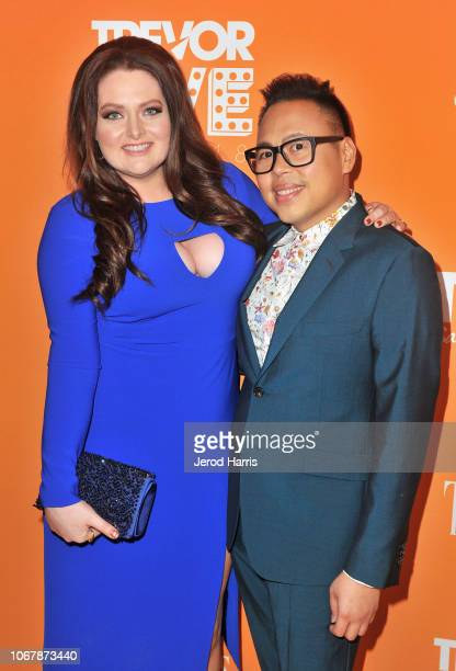 Lauren Ash and Nico Santos attend the Trevor Project's TrevorLIVE LA 2018 at The Beverly Hilton Hotel on December 3 2018 in Beverly Hills California