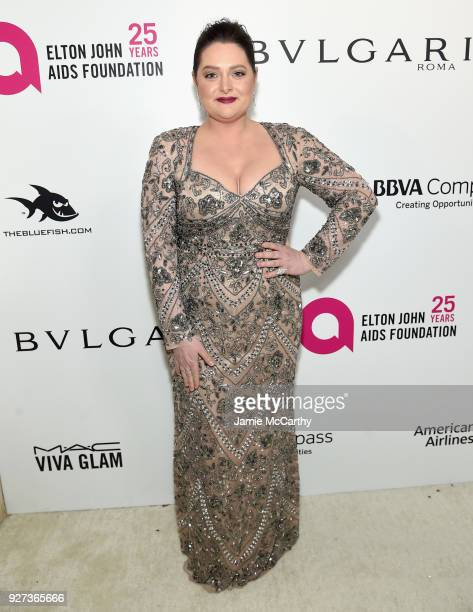 Lauren Ash attends the 26th annual Elton John AIDS Foundation Academy Awards Viewing Party sponsored by Bulgari celebrating EJAF and the 90th Academy...