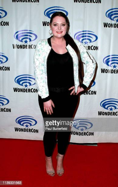 Lauren Ash attends the 'She-Ra and the Princesses of Power' press line during WonderCon 2019 at Anaheim Convention Center on March 30, 2019 in...