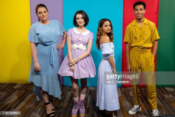 Lauren Ash, Merit Leighton, Aimee Carrero and Marcus Scribner of 'She-Ra and the Princesses of Power' are photographed for Los Angeles Times at...