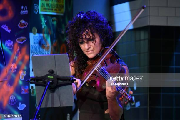 Lauren Baba of Vitamin String Quartet performs onstage during the Build Series at Build Studio on August 13 2018 in New York City