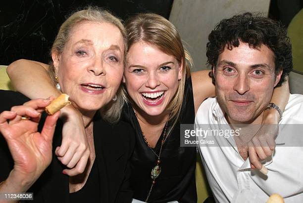 Lauren Bacall Alice Eve and Rufus Sewell *Exclusive*