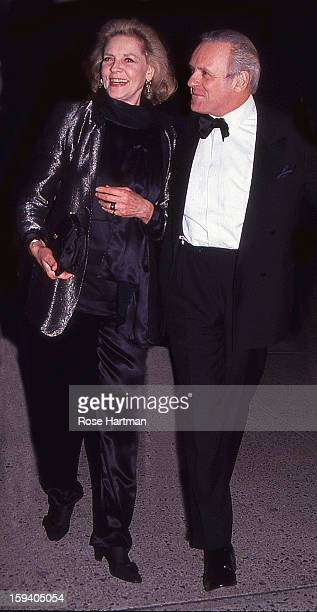 Lauren Bacall and Anthony Hopkins at a film premiere New York New York 1996