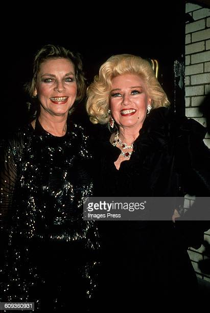 Lauren Bacall and Ginger Rogers circa 1982 in New York City