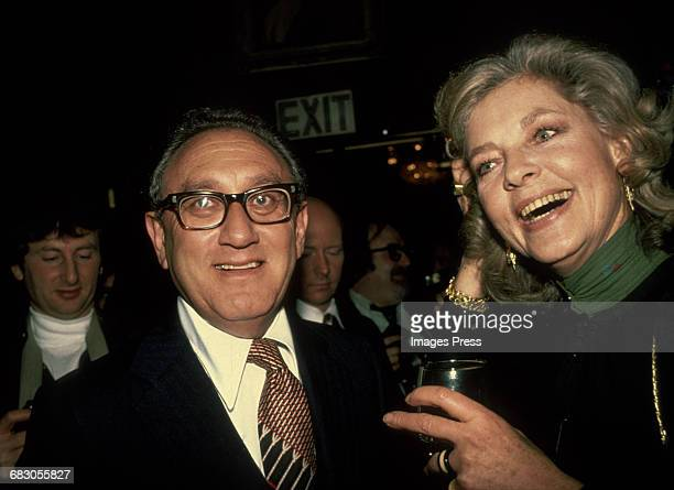 Lauren Bacall and Henry Kissinger at her book party for 'By Myself' circa 1979 in New York City