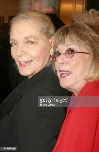 Lauren Bacall and Phyllis Newman during Phantom of the Opera Becomes the LongestRunning Show on Broadway at The Majestic Theatre in New York City New...