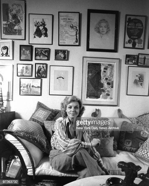 Lauren Bacall at her home in the Dakota at 1 West 72 Street New York City