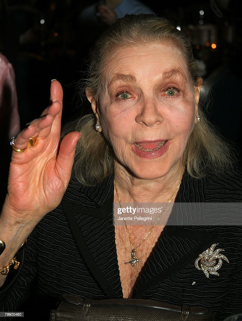 Lauren Bacall attends 'Sunday in the Park with George' Broadway Opening Night After Party at The Sheraton Hotel on February 21, 2008 in New York City.