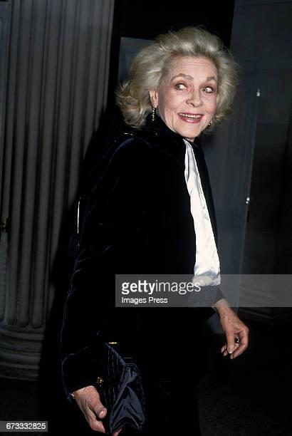 Lauren Bacall attends the 1992 Metropolitan Museum of Art's Costume Institute Gala circa 1992 in New York City.